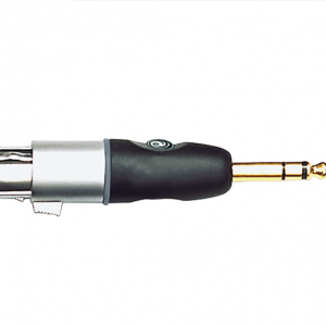 XLR Male to 1/4 Inch Female Balanced Adapter