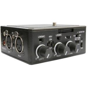 Dual XLR Audio Adapter with Build In Preamplifiers